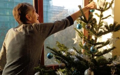Préparation des décorations de Noël !